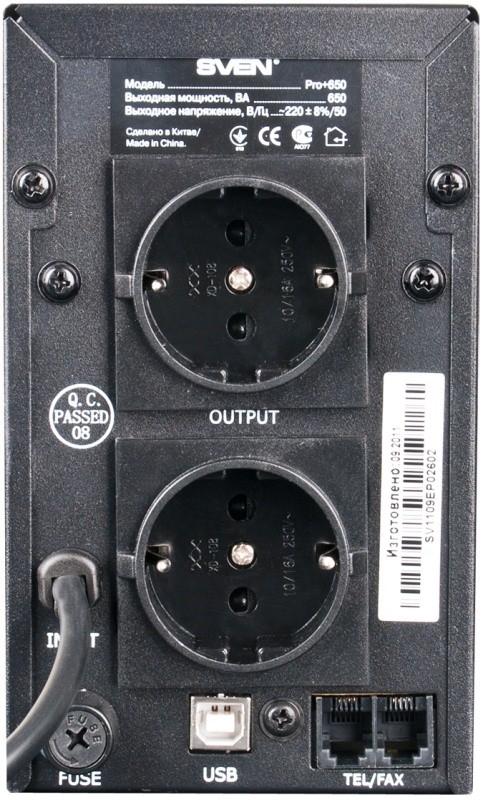 ИБП Sven Pro+ 650 LCD купить в