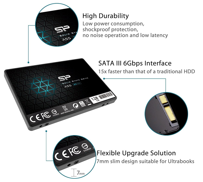 Silicon Power Ace A55 SP128GBSS3A55S25 128 ГБ - купить SSD ...